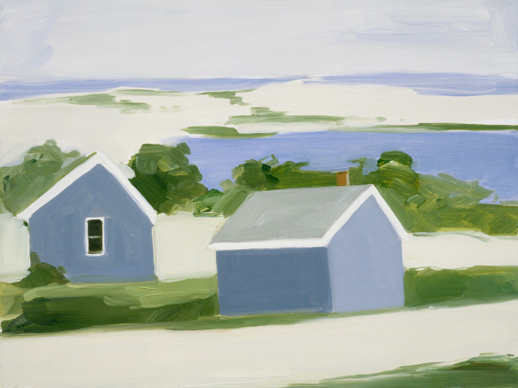 Maureen Gallace, Sandy Road, Blue, Woods Hole, Ma., 2002