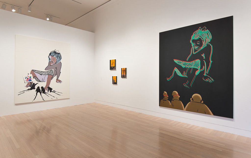 Tala Madani, Installation view: Made in L.A. 2014, Hammer Museum, Los Angeles
