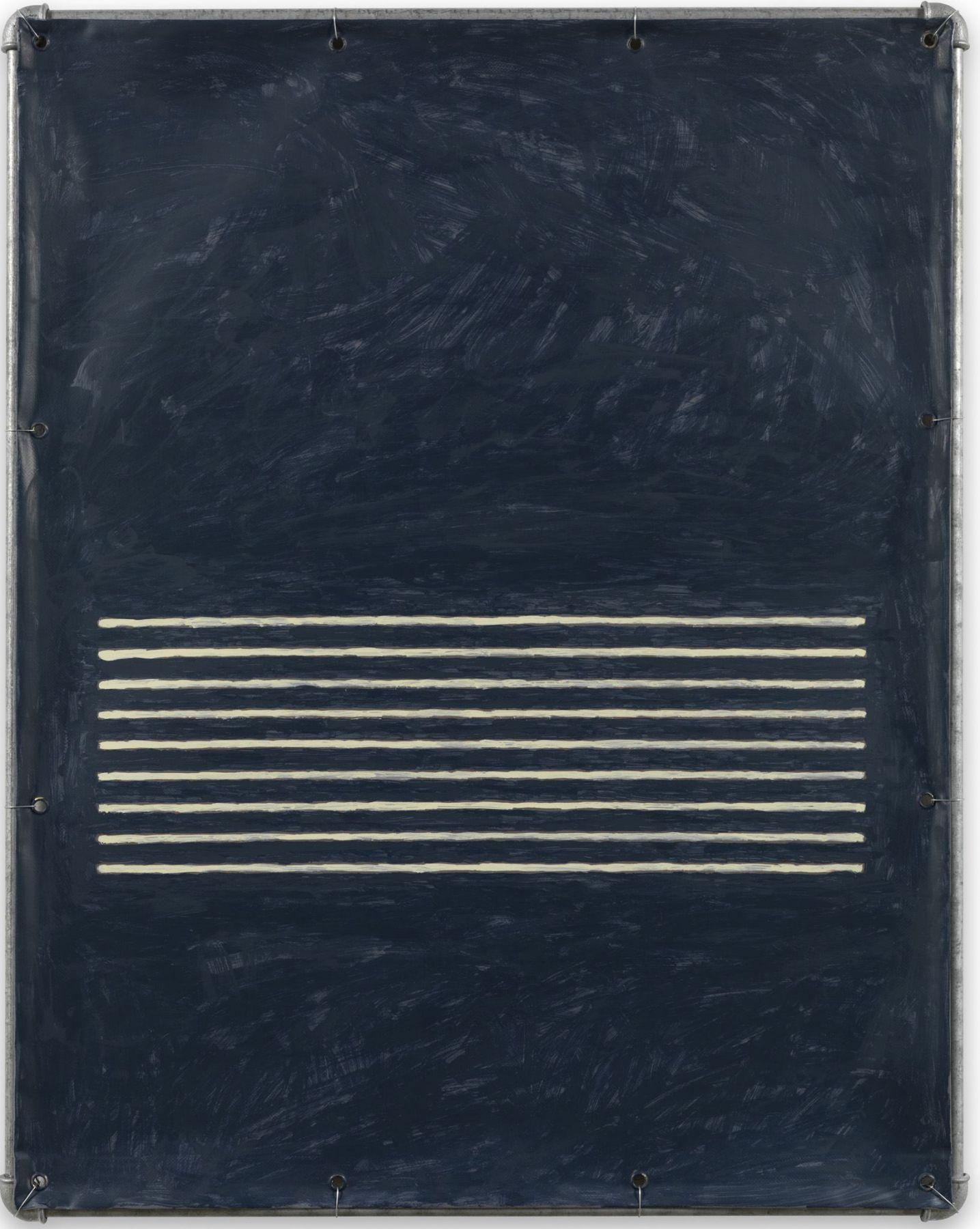 Valentin Carron, Lamento in blue bianco, 2014