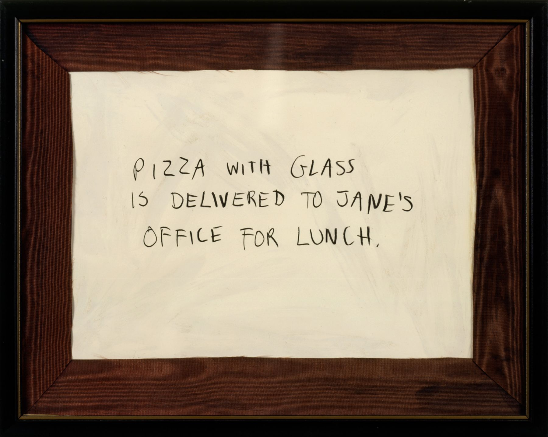 Karen Kilimnik, Jane Creep (Pizza with Glass), 1991