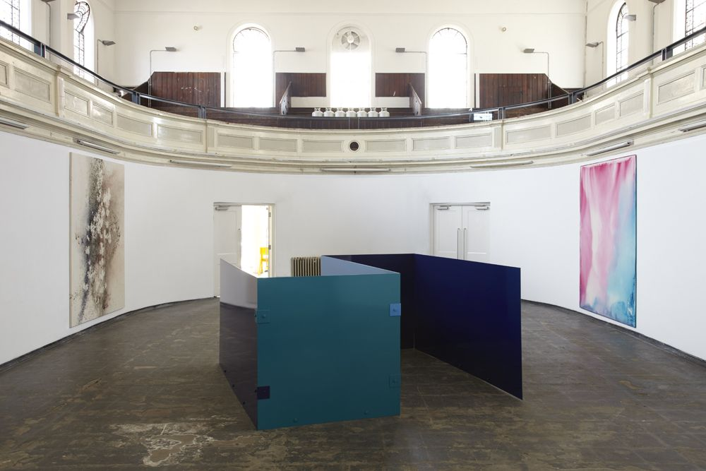 Sam Falls, Exhibition view: Zabludowicz Collection, London, 2014
