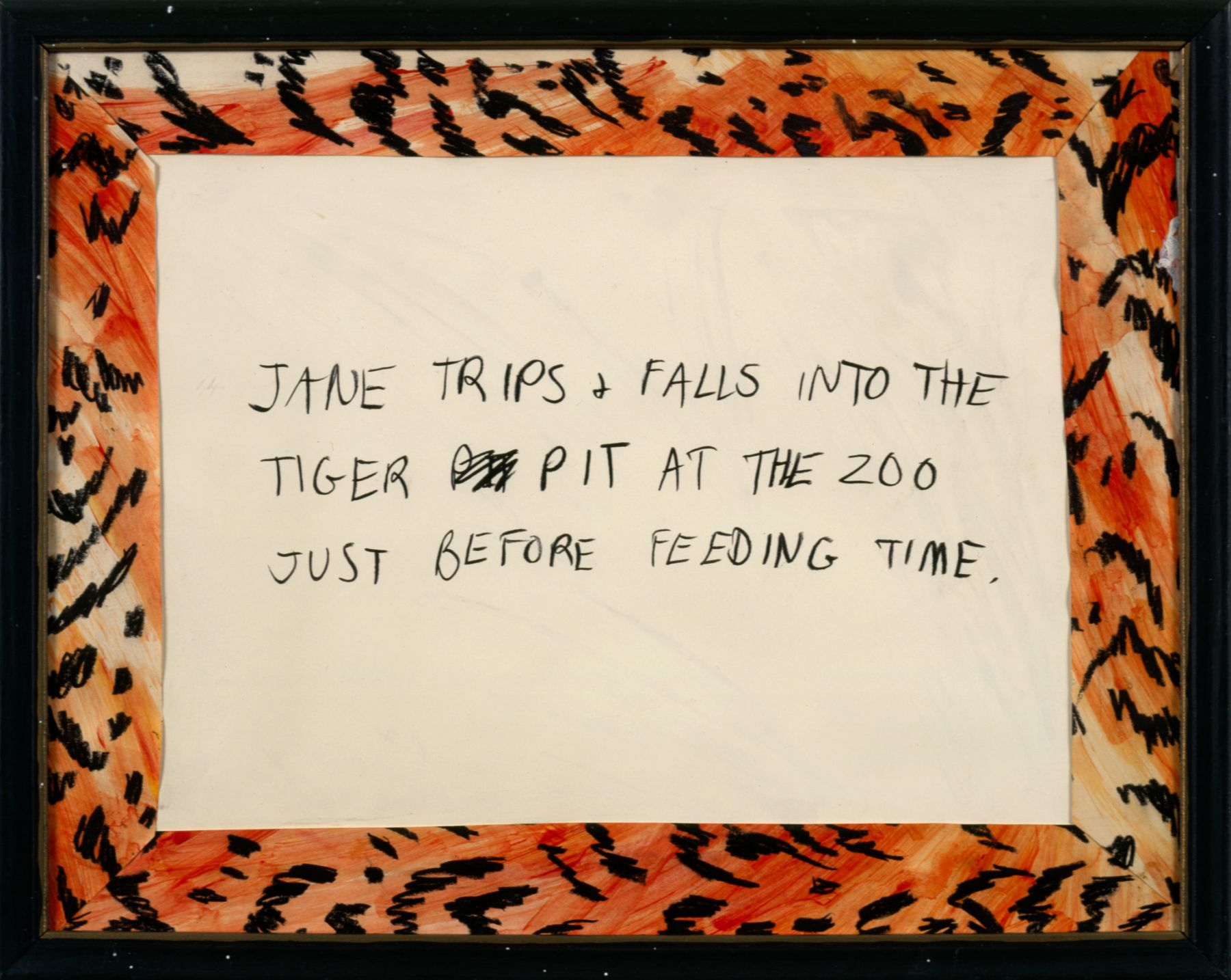 Karen Kilimnik, Jane Creep (Tiger Pit), 1991