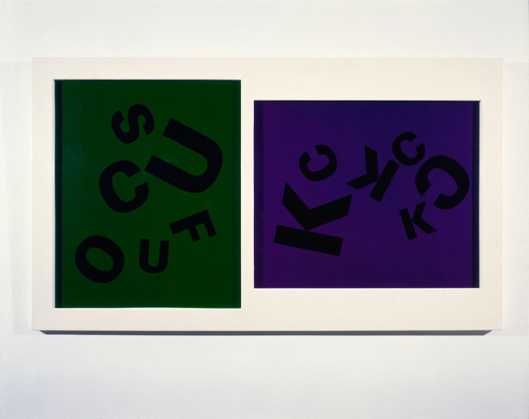 Larry Johnson, Untitled (Fuck, Suck, Cock), 1985