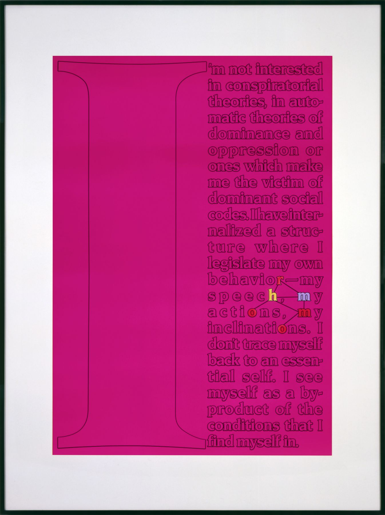 Larry Johnson, Untitled (Sampler), 1989