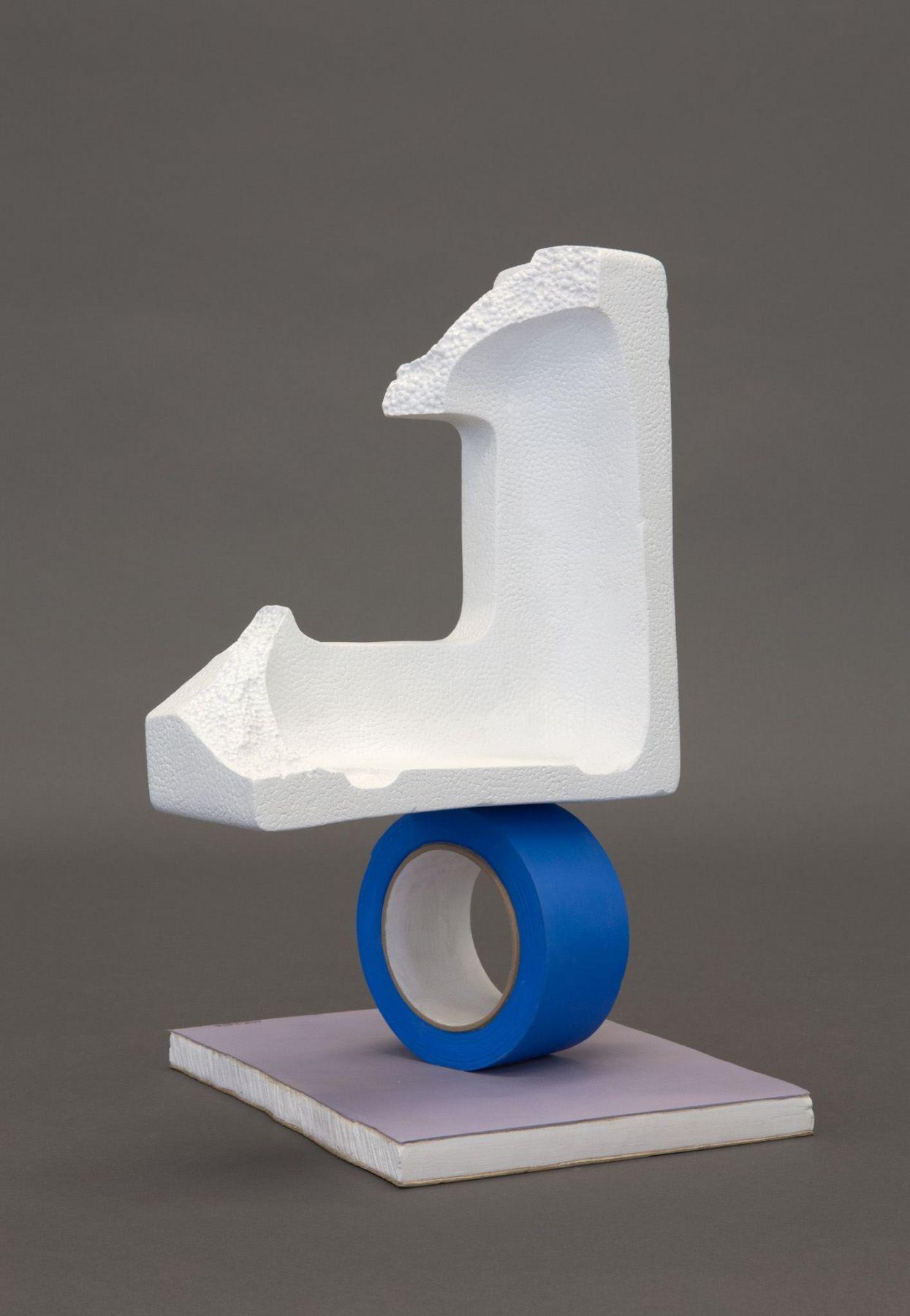 Matt Johnson, Untitled (Balancing Styrofoam Corner on a Tape Roll), 2016