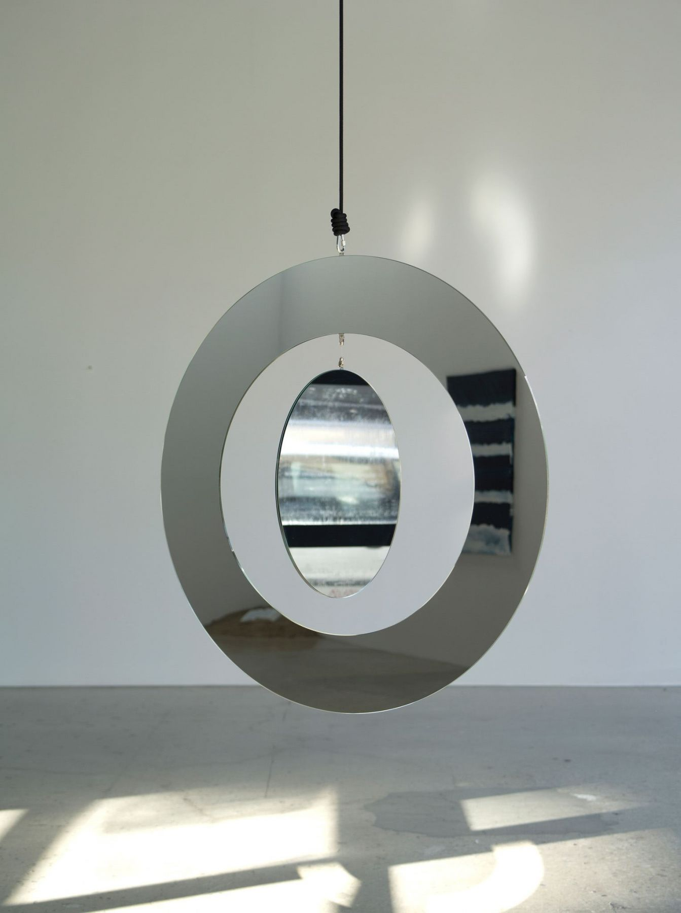 Jeppe Hein, Two in One Mirror Mobile, 2011