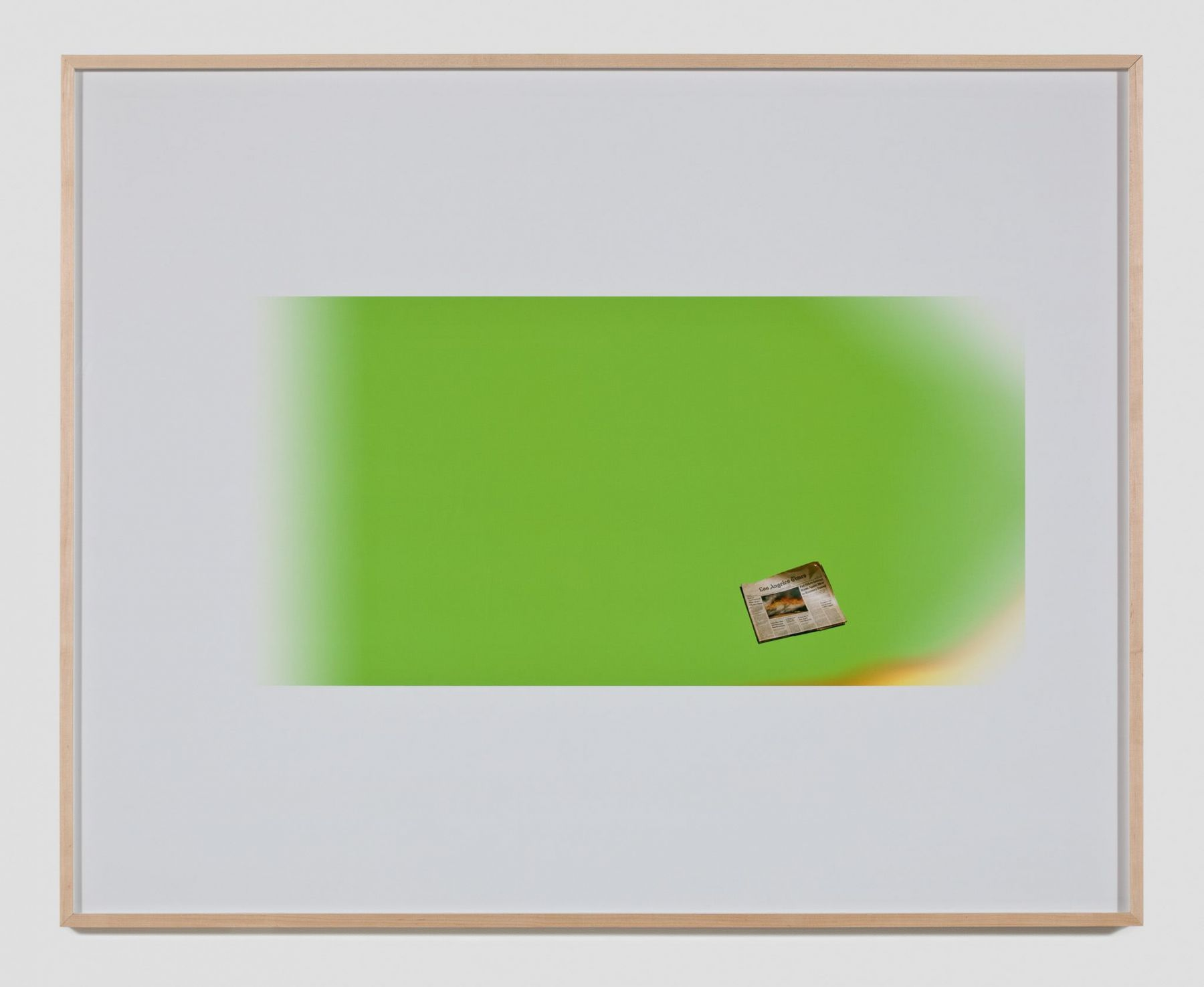 Larry Johnson, Untitled Green Screen Memory (Los Angeles Times), 2010
