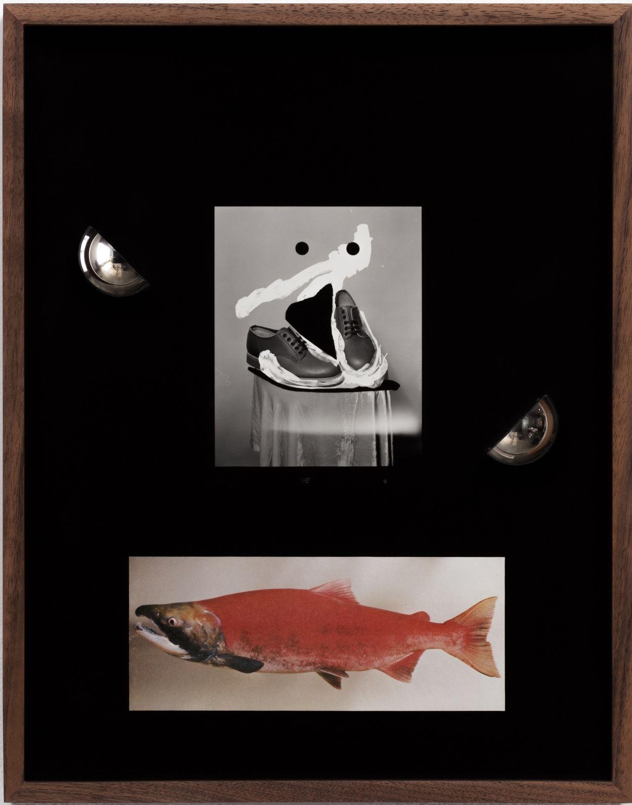 Elad Lassry, Untitled (Boots, Sockeye Salmon), 2018