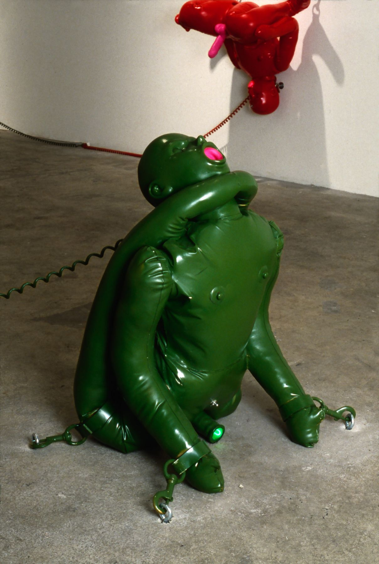 Vito Acconci, Home Entertainment Center, (floor green male), 1991