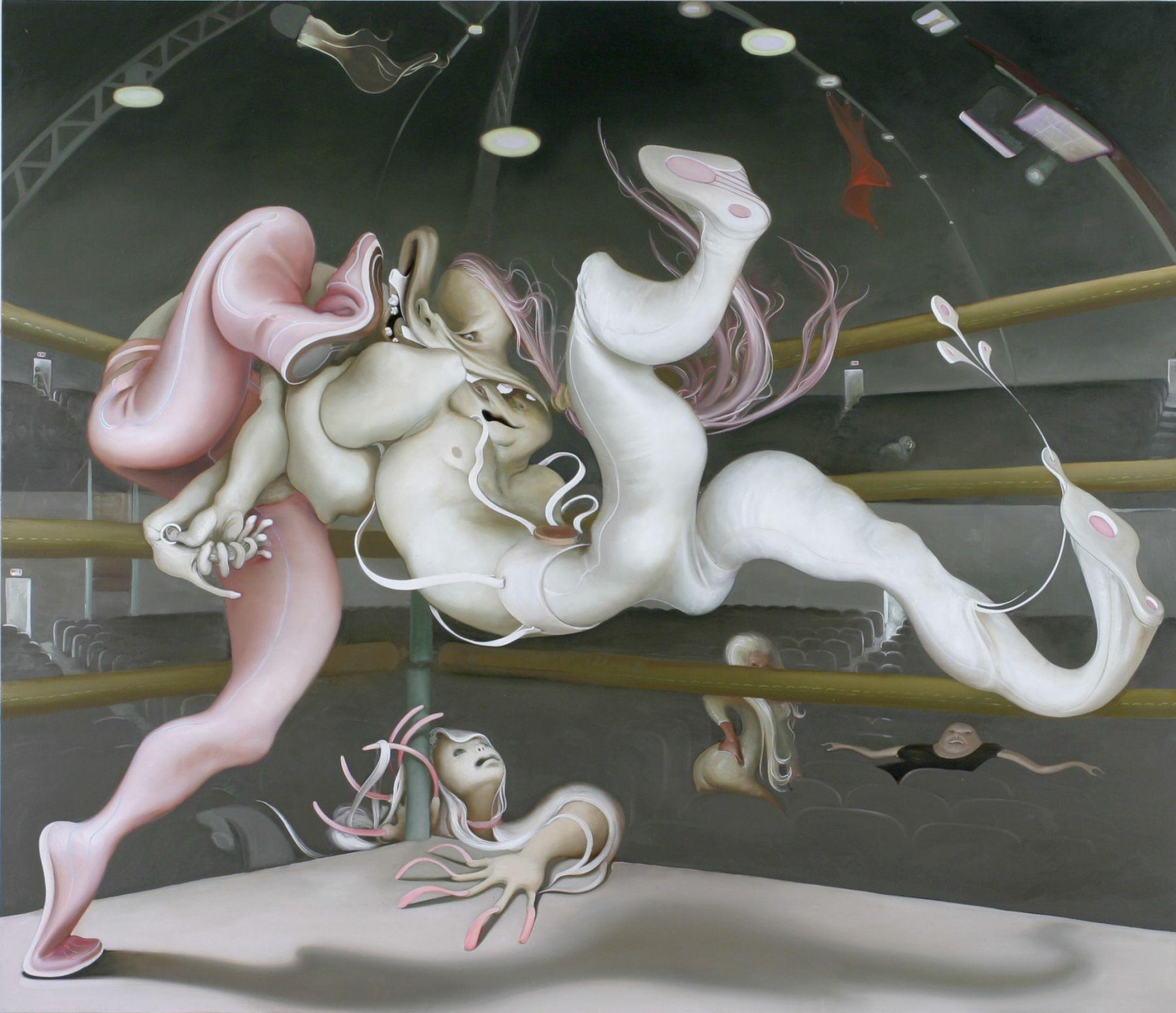 Inka Essenhigh, Wrestlers, 2005