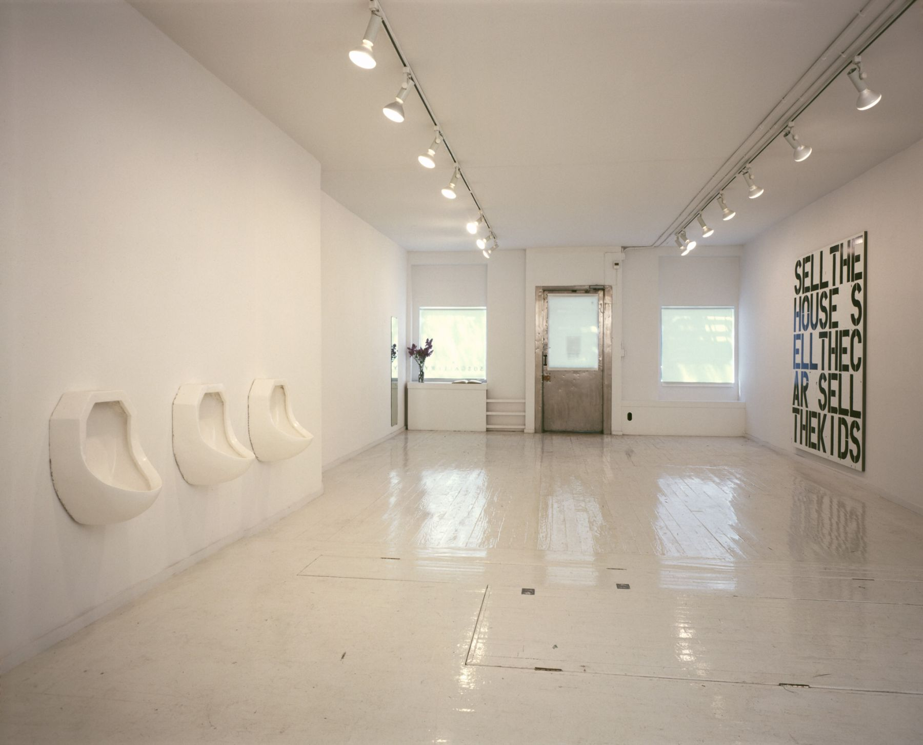 Installation view, Robert Gober and Christopher Wool