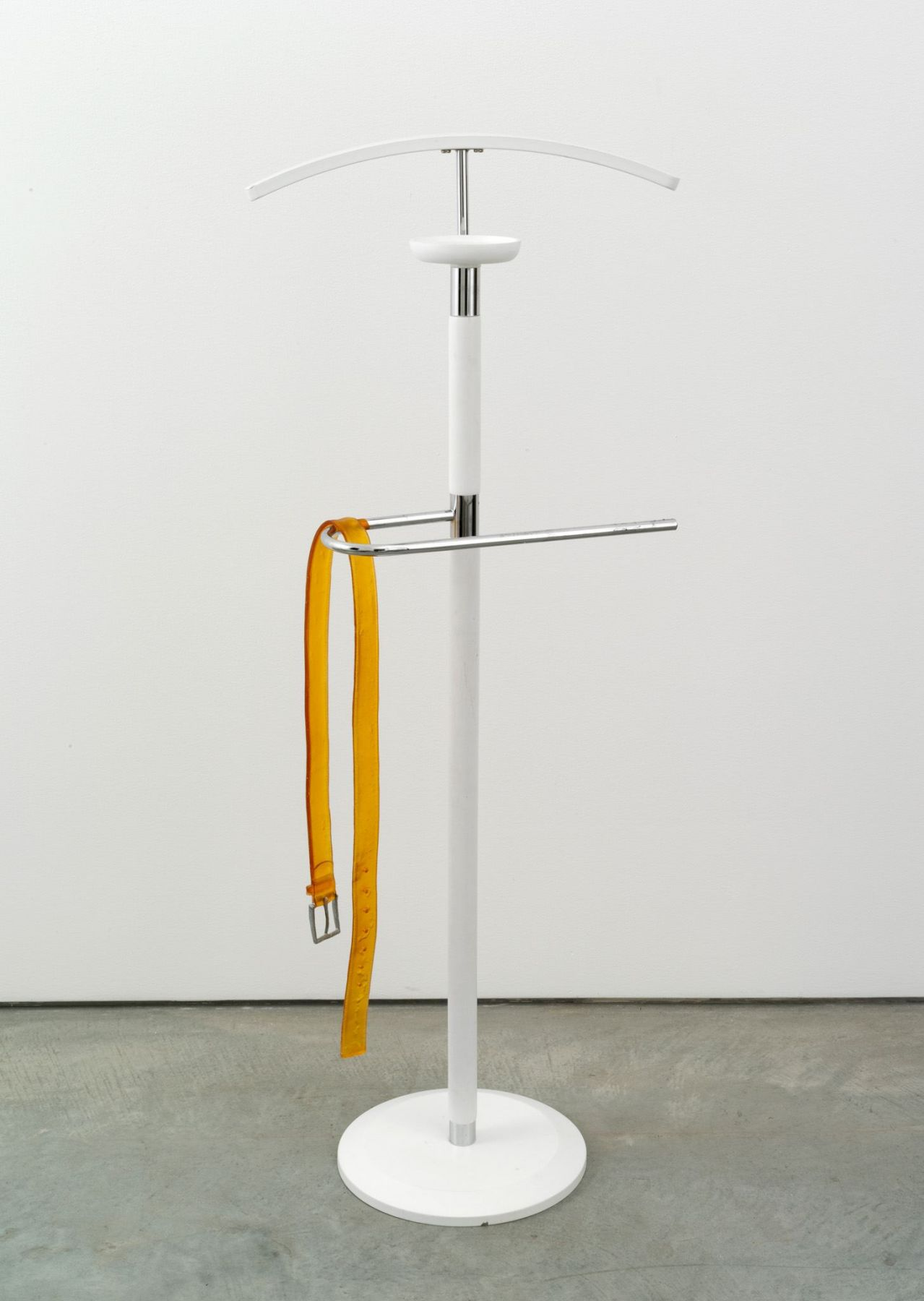 Valentin Carron, Belt on valet stand, 2014