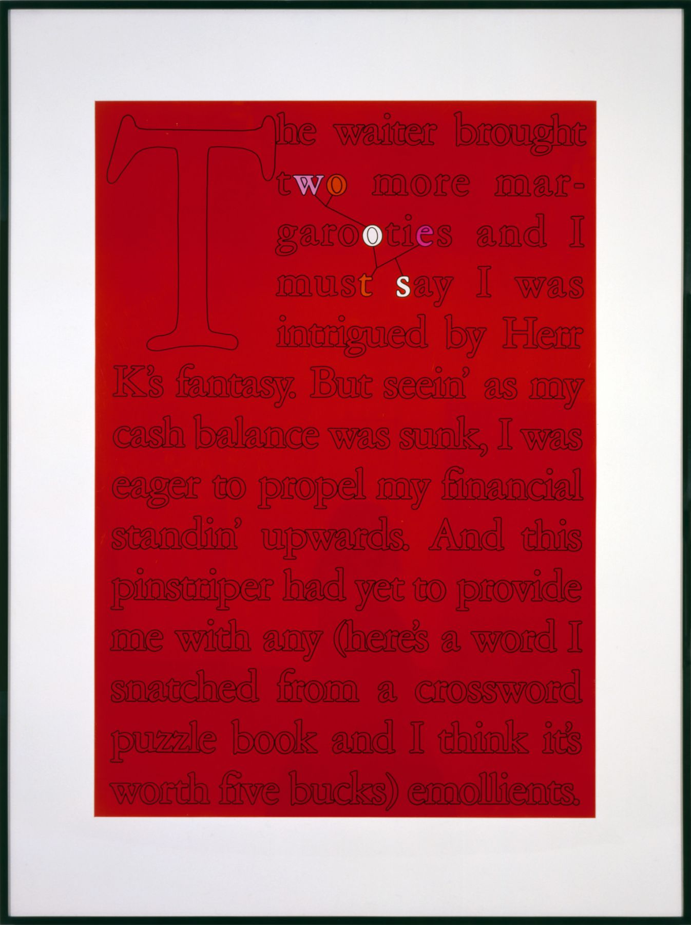 Larry Johnson, Untitled (Five Buck Word), 1989