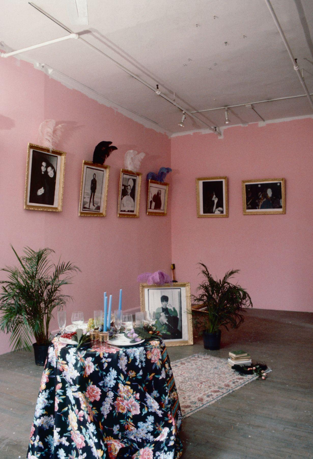 Karen Kilimnik, The Adventure Club, 1993, Installation view: 303 Gallery, New York
