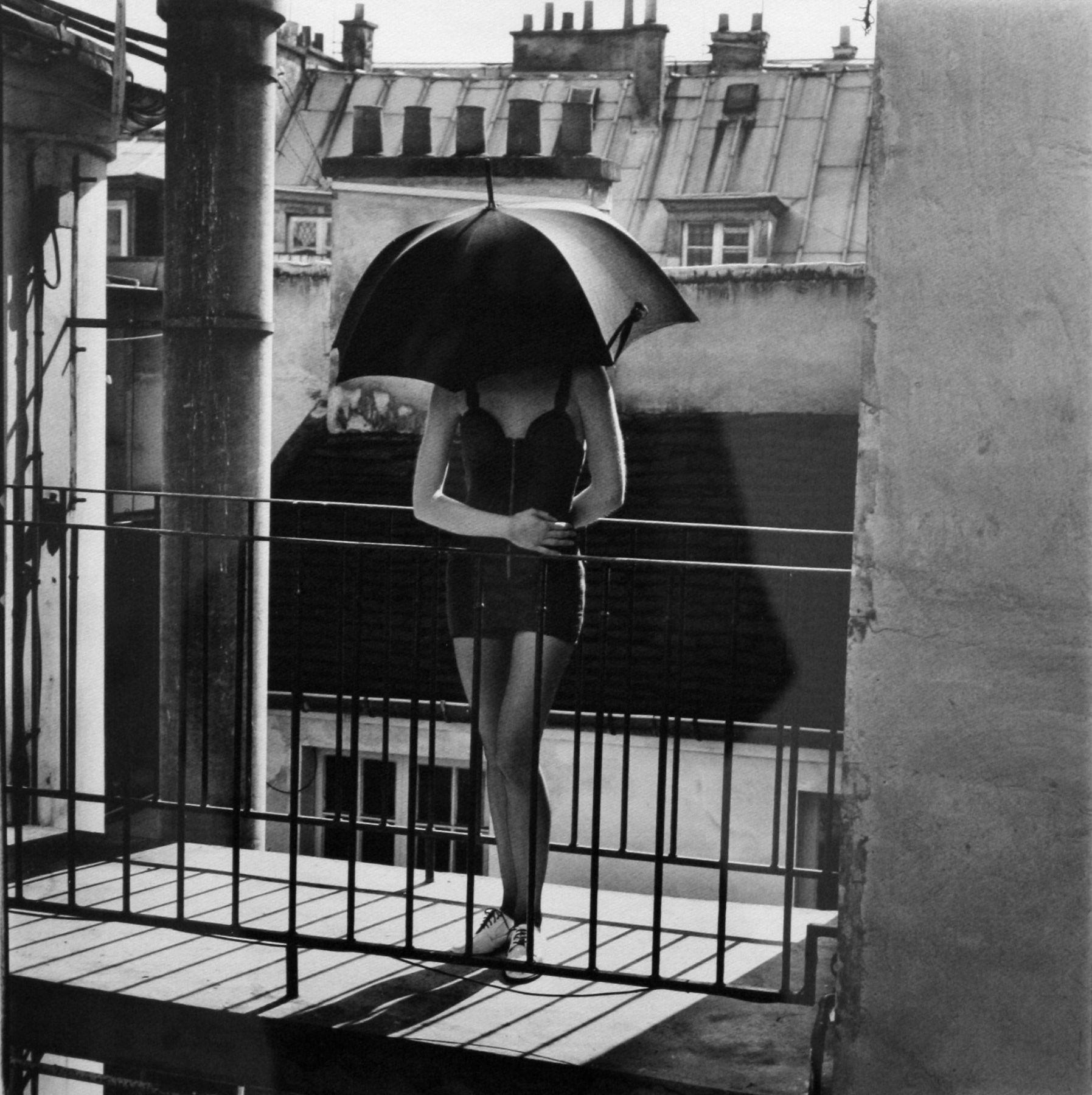 Paris, untitled (girl with umbrella), Nigel Scott, 1987