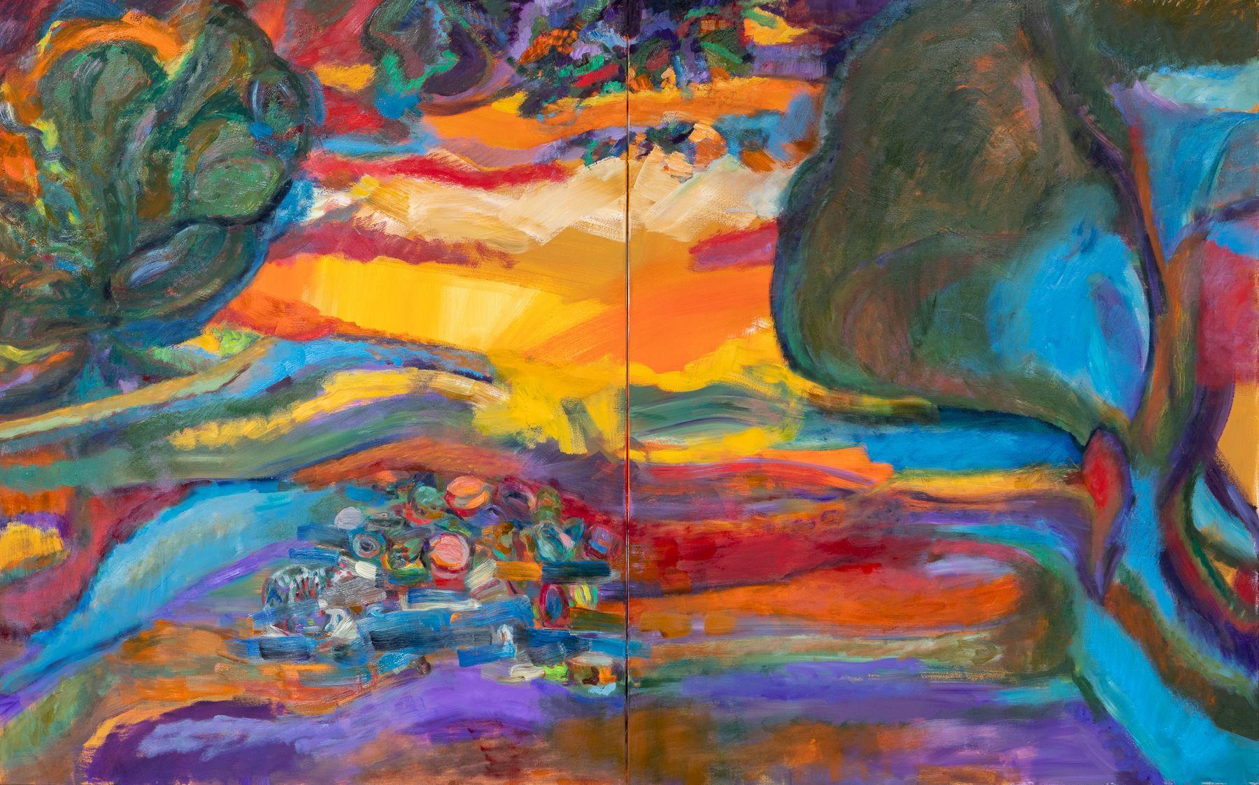 Retreating Light or Four-Cornered Shade, Gina Rorai, 2020