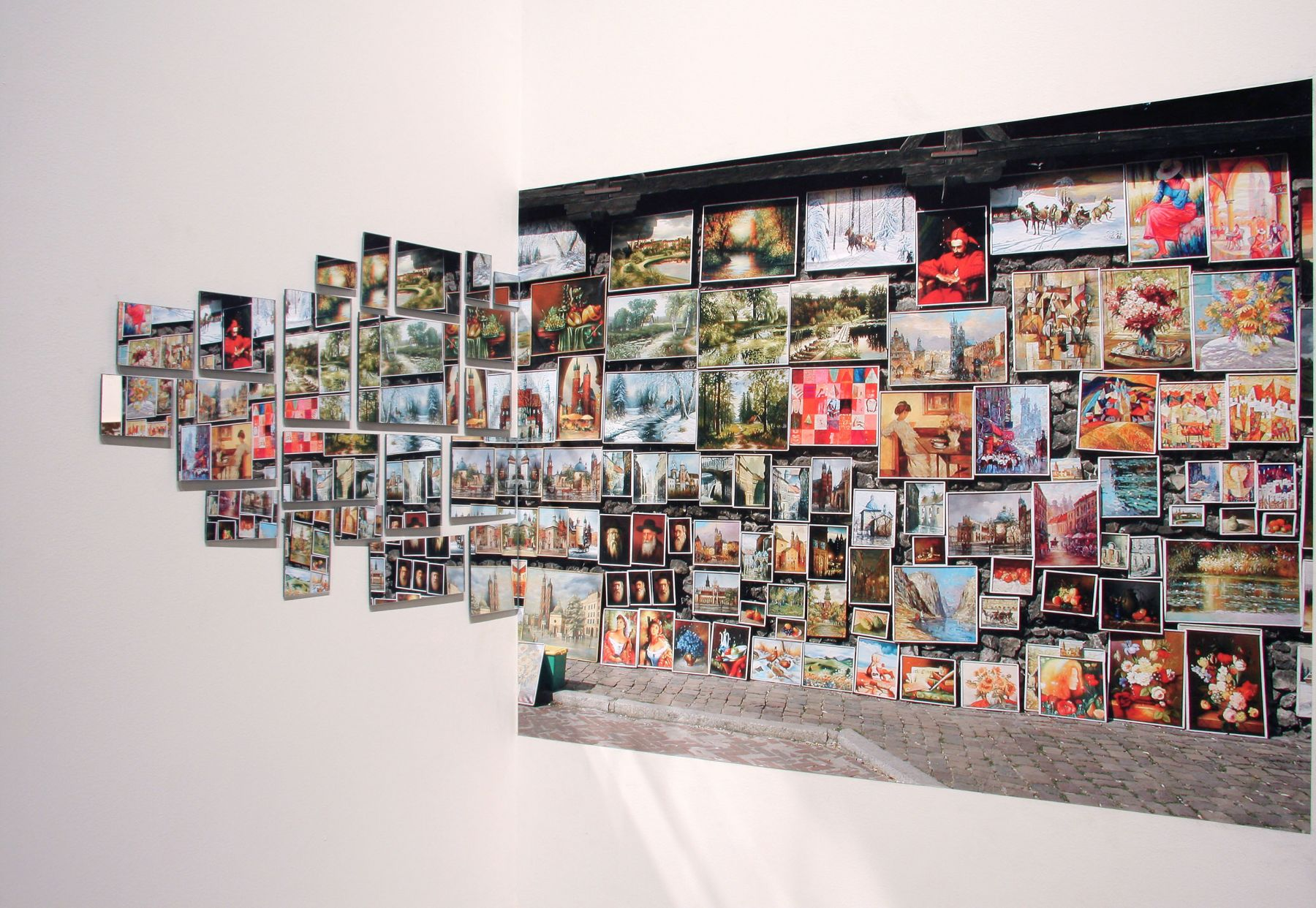 Ellen Harvey installation Locks Gallery
