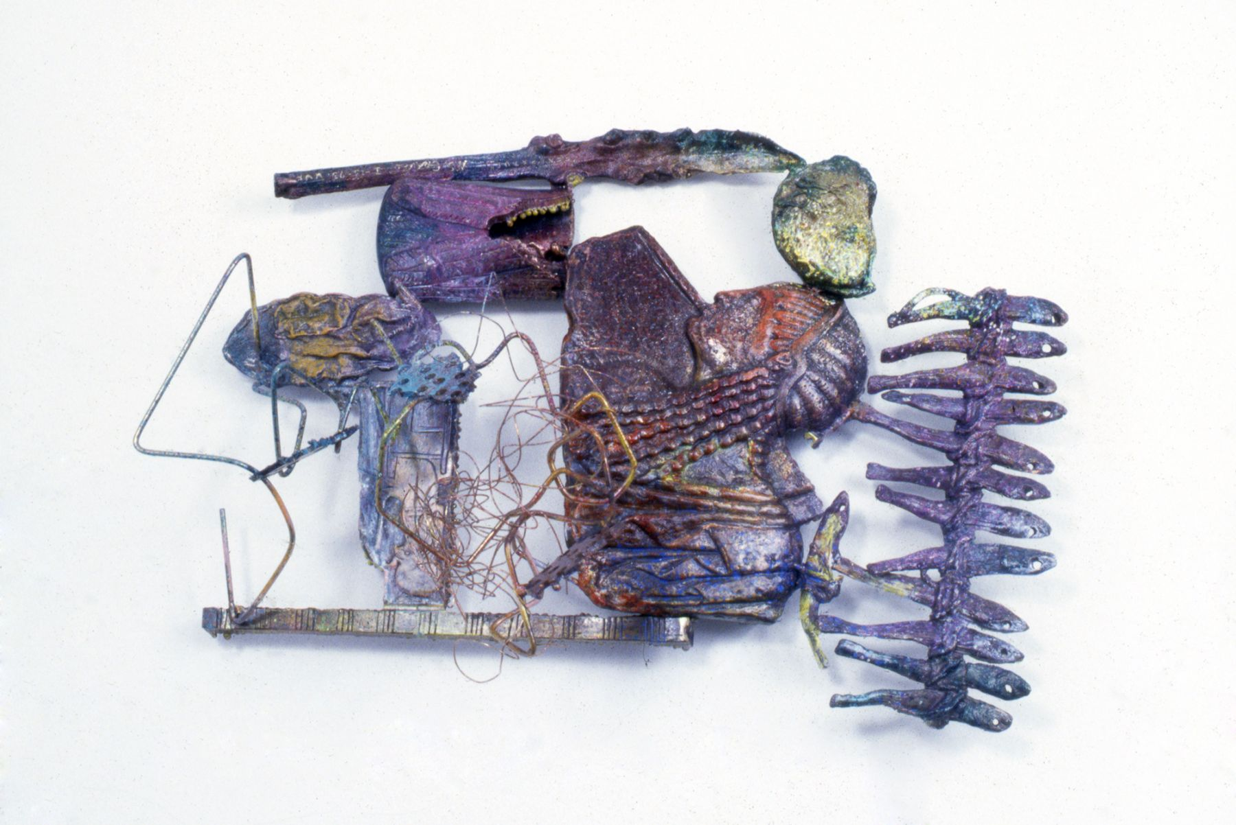Nancy Graves Permanent Tension Painting and Sculpture Locks Gallery Conepatus