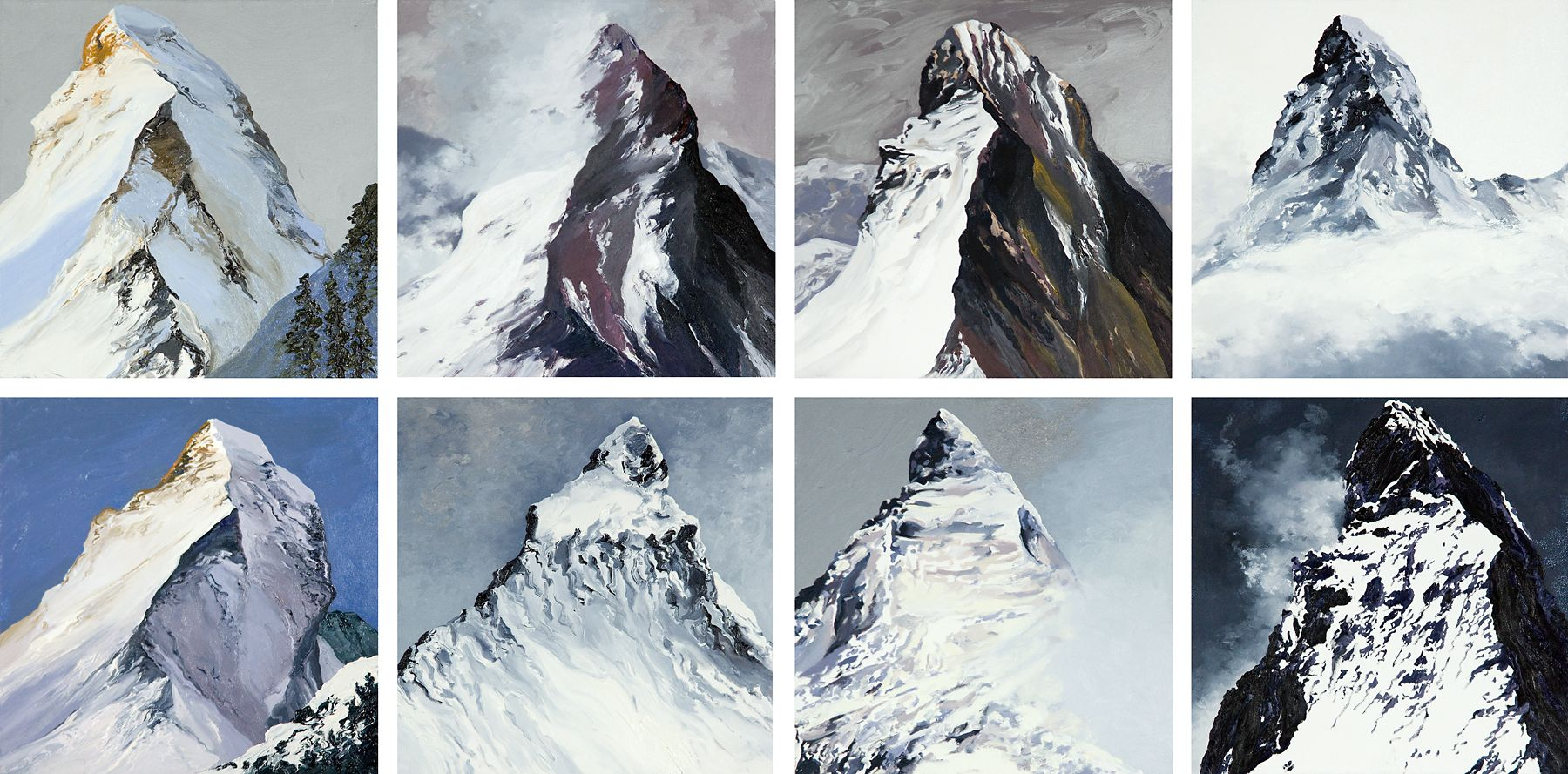 Diane Burko Locks Gallery Politics of Snow Matterhorn Icon Series