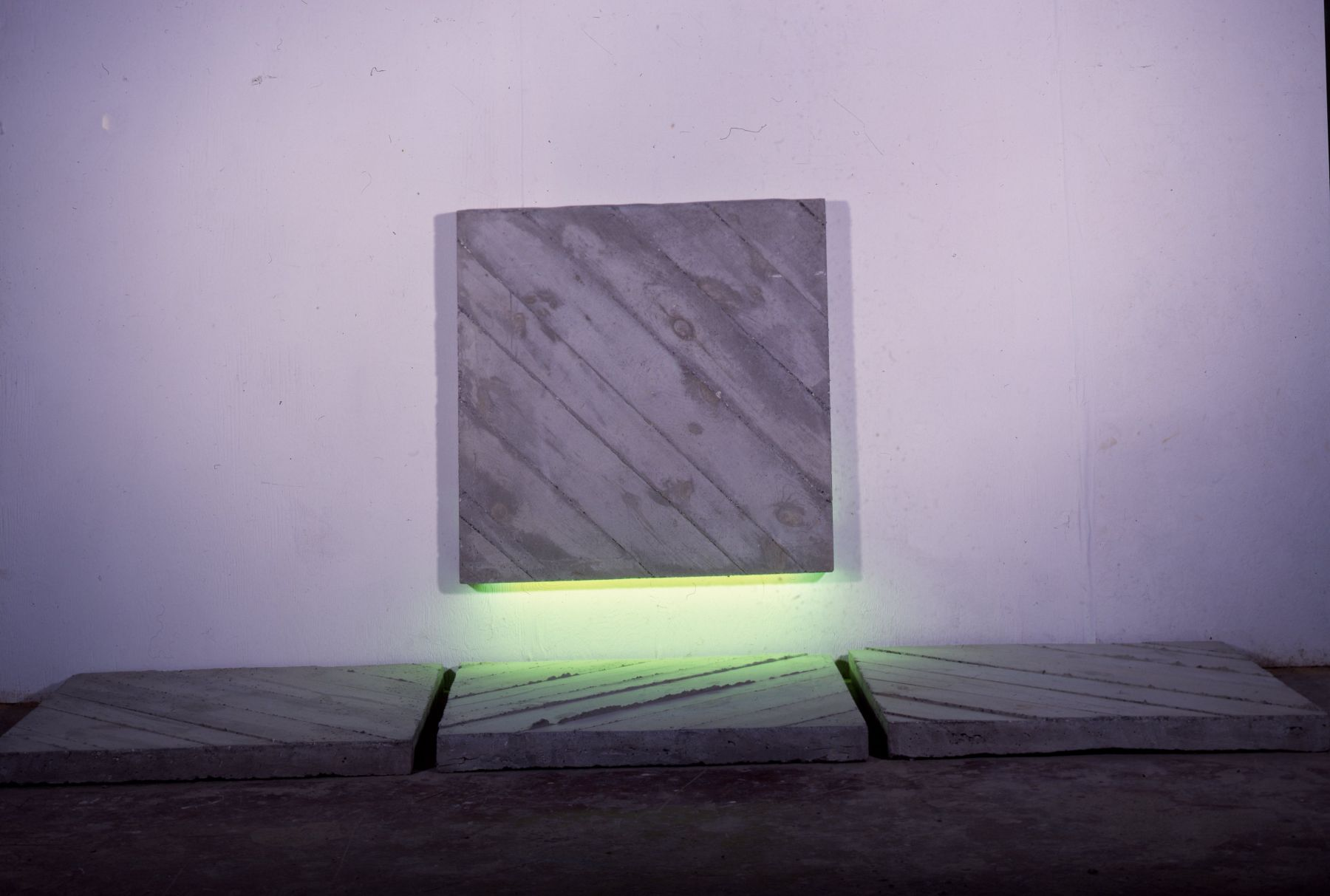 Four Squares with Green Light