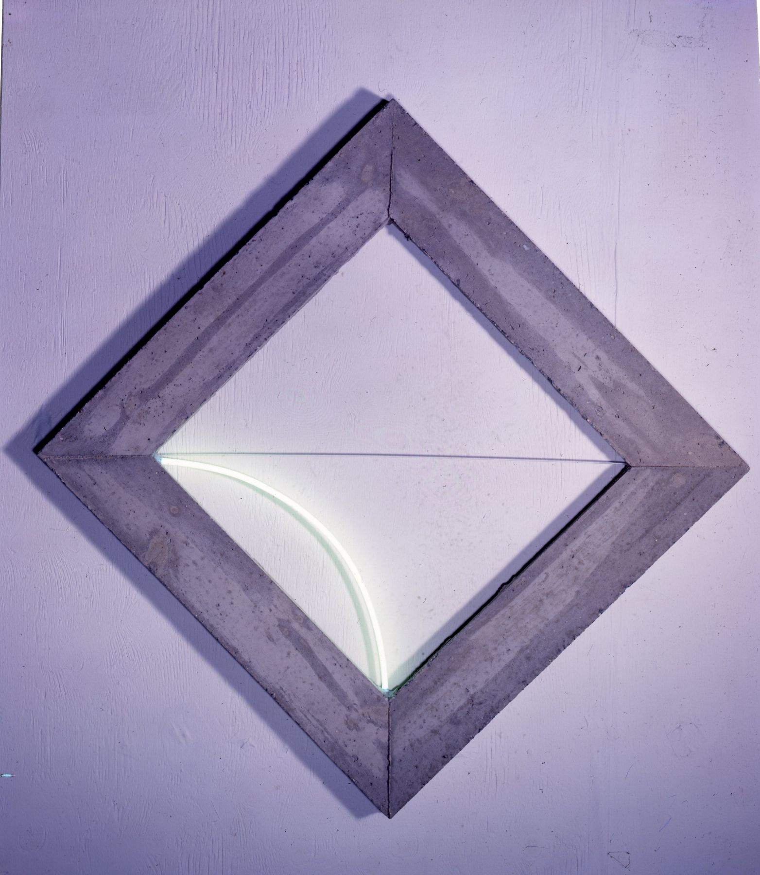 Diamond Frame with Pale Green Light