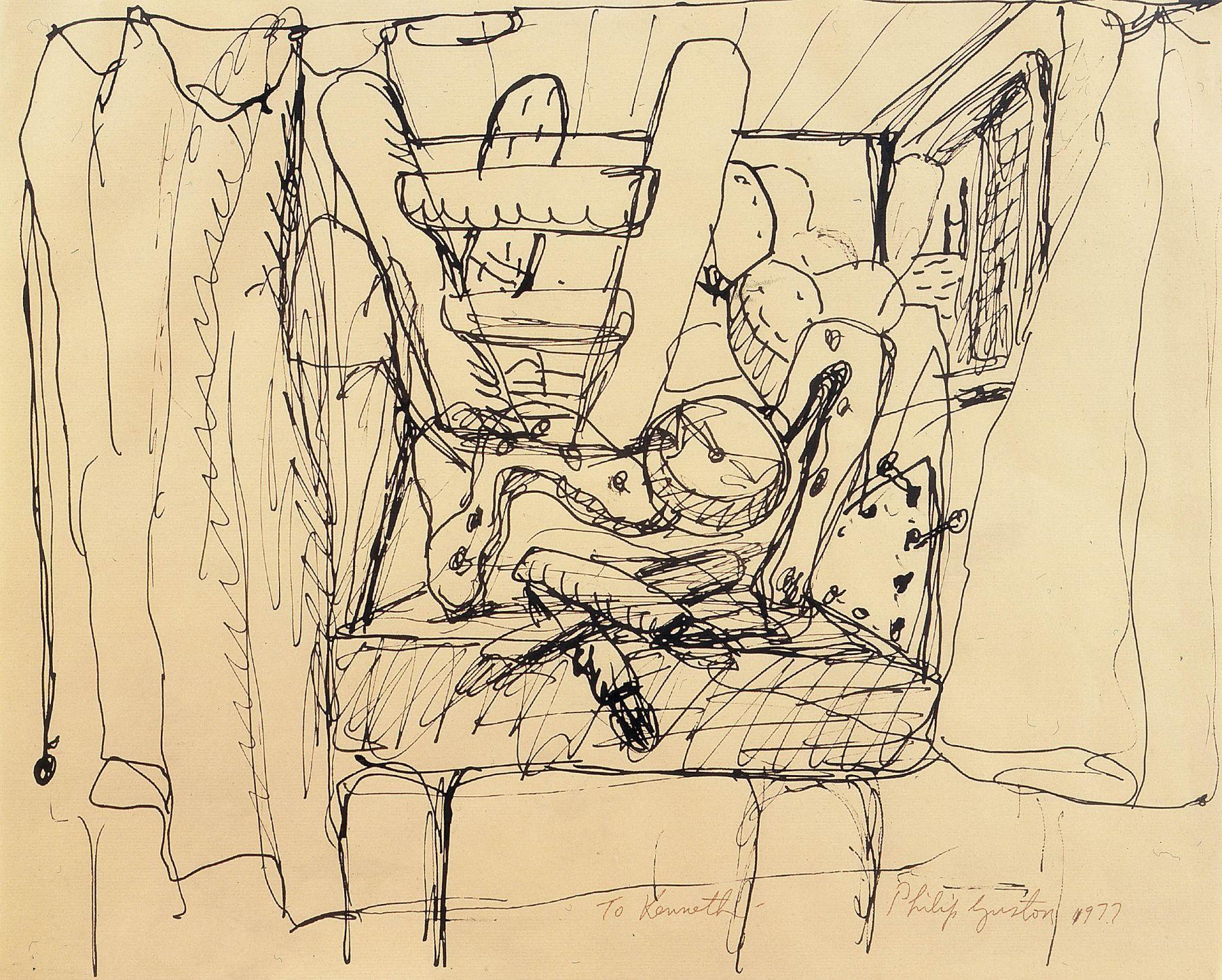 Philip Guston Locks Gallery Drawing