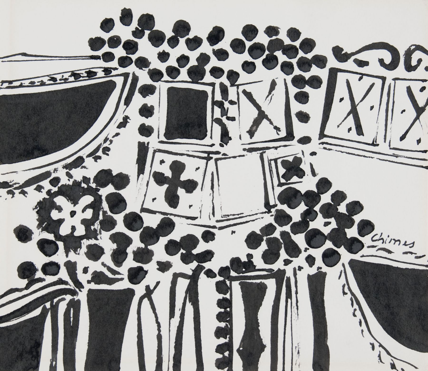 Thomas Chimes drawing Locks Gallery