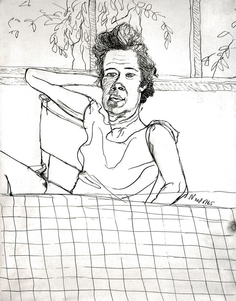 Locks Gallery Drawing Alice Neel Bette Fisher
