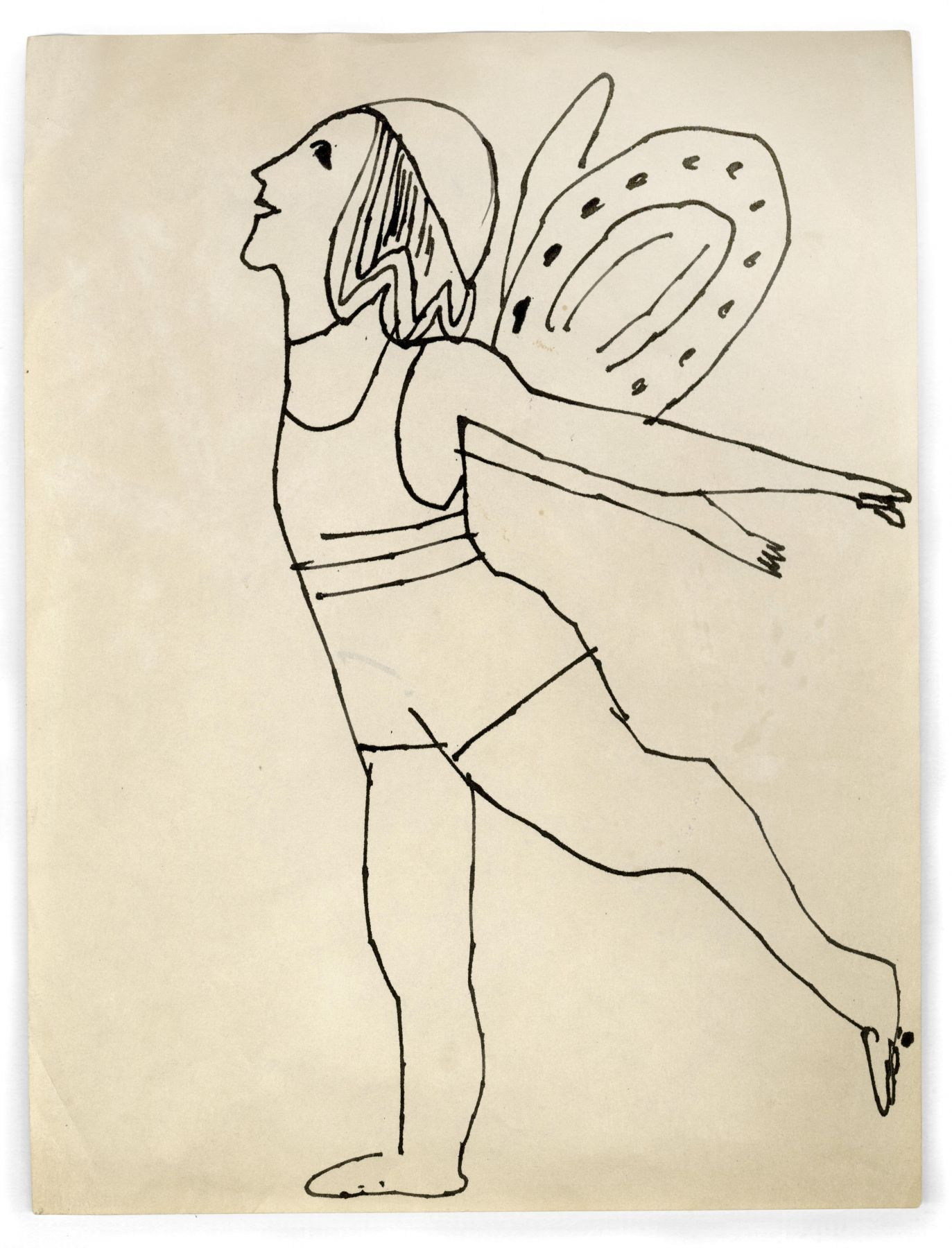 Andy Warhol Fairy, circa 1954