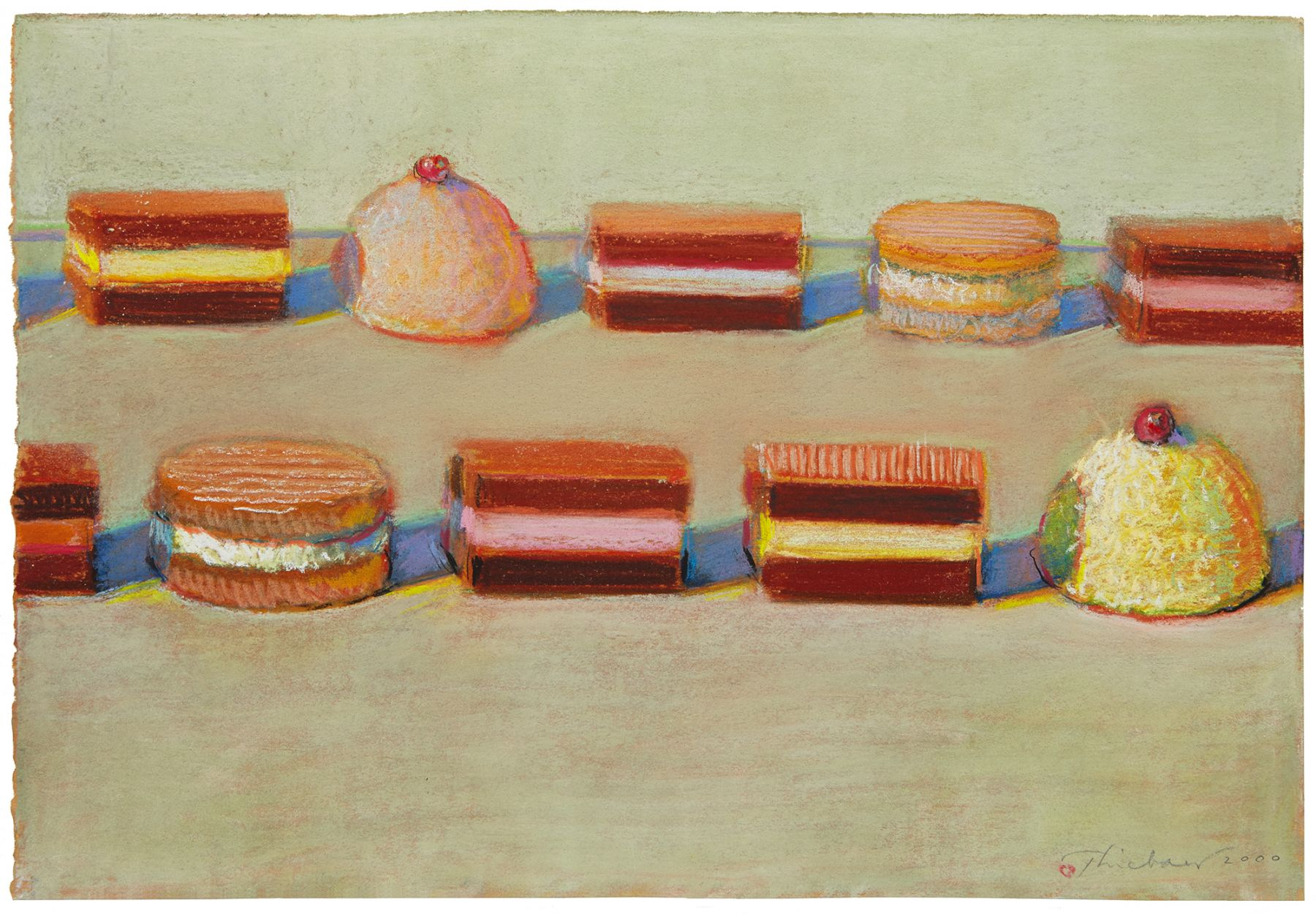 Wayne Thiebaud, Ten Candies, 2000
