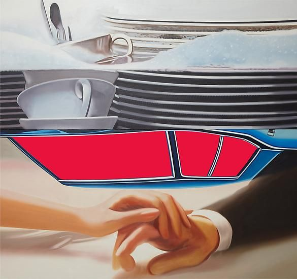 """James Rosenquist, """"The Facet"""", 1978, oil on canvas, 90 1/4 x 96 1/4 inches"""