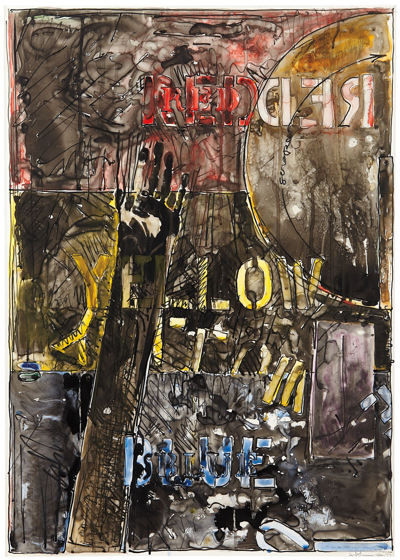 Jasper Johns, Land's End, 1977
