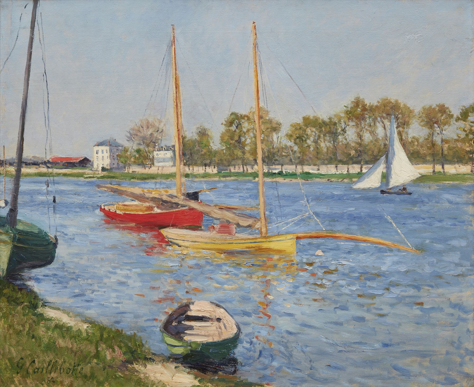 Caillebotte La Seine a Argenteuil