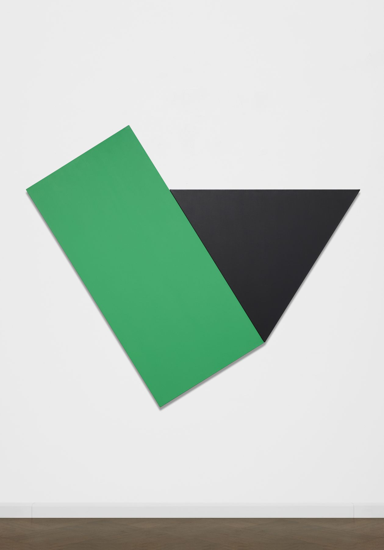 Ellsworth Kelly, Green with Black Triangle, 1974, oil on canvas, 78 x 93 1/4 inches