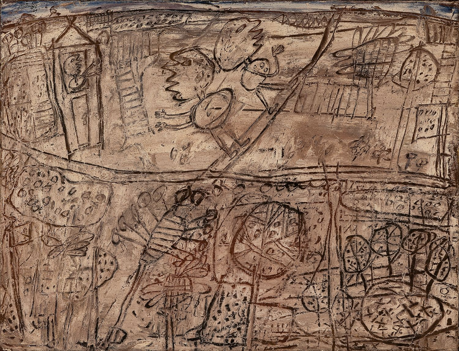 Jean Dubuffet, L'adieu à la fenêtre [Farewell from the Window], June 3, 1949