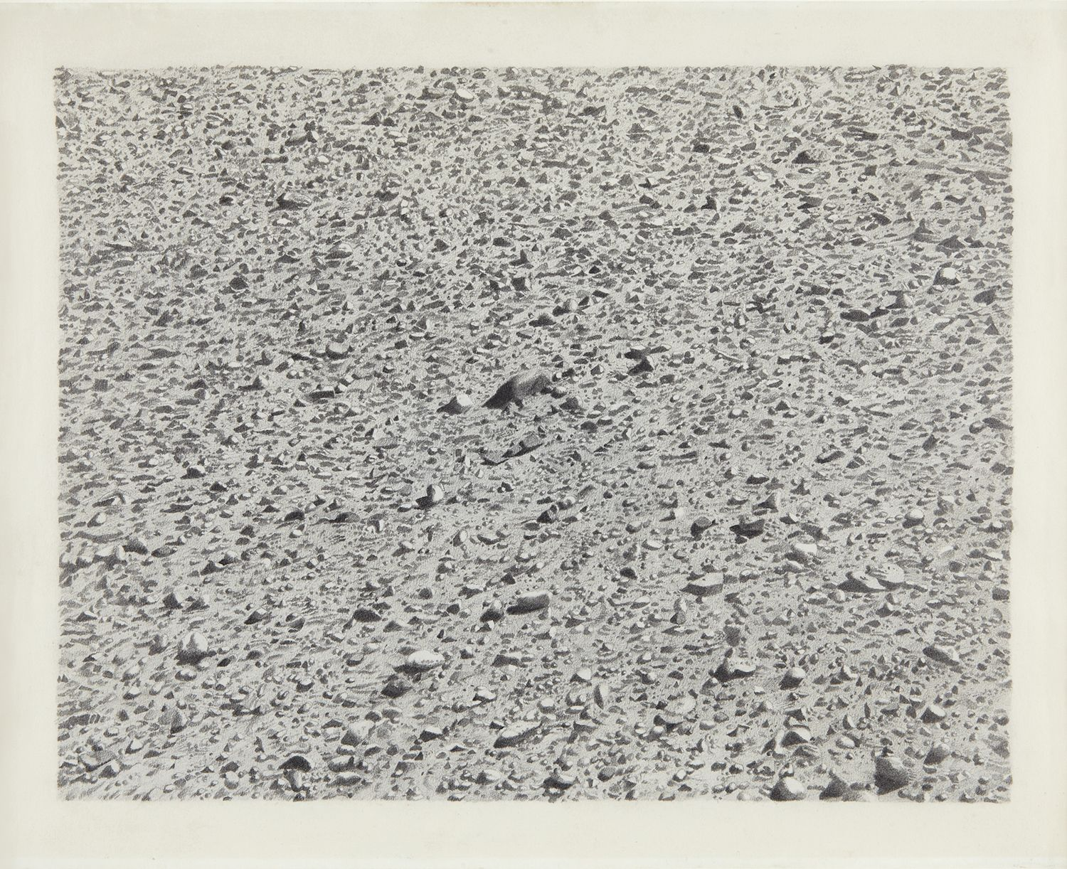Vija Celmins, Untitled (Regular Desert), 1973