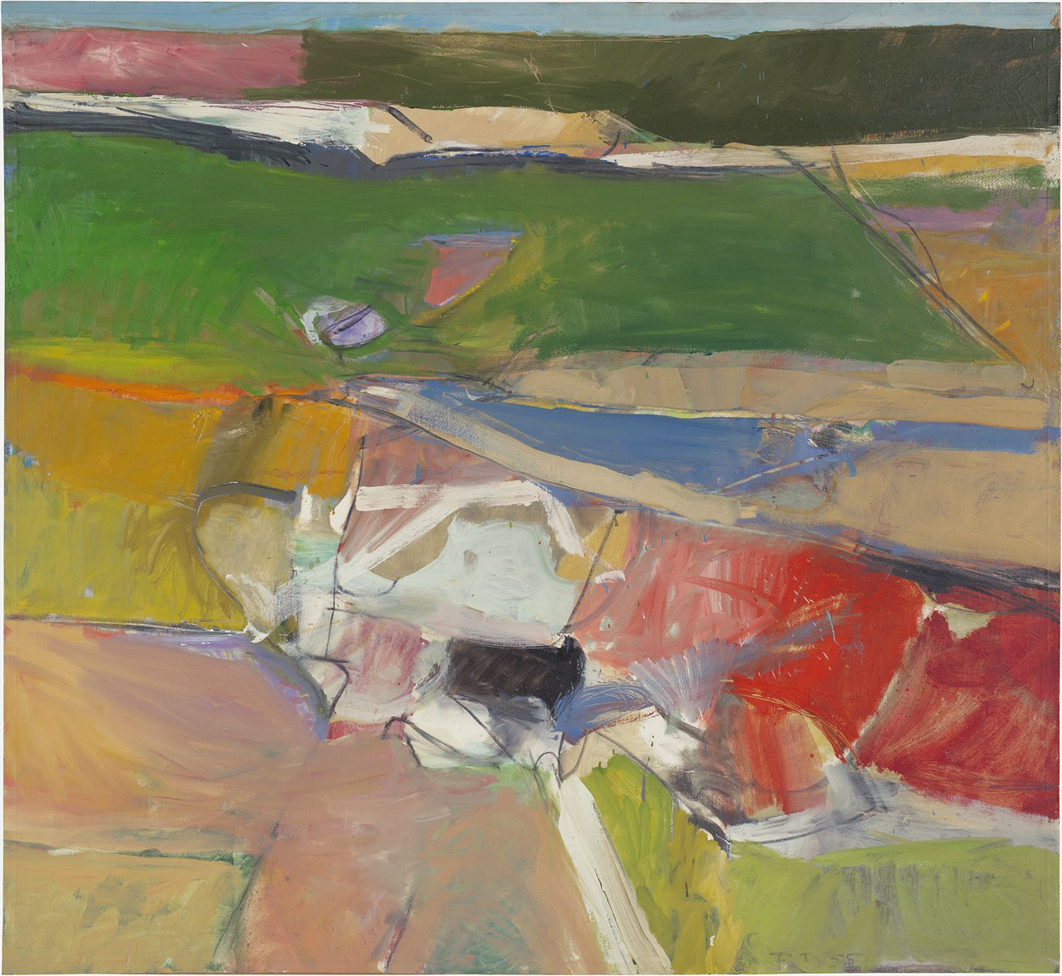Richard Diebenkorn, Berkeley #44, 1955, Oil on canvas, 59 x 64 inches