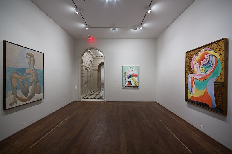"From left to right: ""Seated Bather, The Museum of Modern Art, New York. Mrs. Simon Guggenheim Fund. Digital Image© The Museum of Modern Art / Licensed by SCALA / Art Resource, NY; ""The Yellow Belt: Marie-Therese,"" Private Collection, Europe; ""Repose,"" The Steven and Alexandra Cohen Collection"