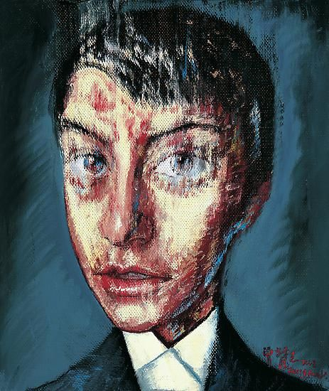 Zeng Fanzhi, Portrait 08-7-8