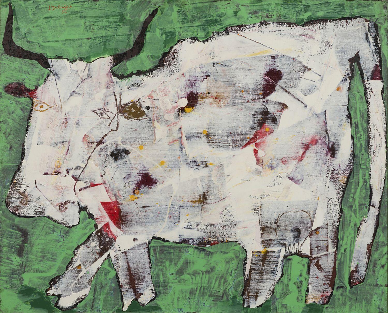 Jean Dubuffet, Vache aux cornes noires [Cow with Black Horns], August 1954