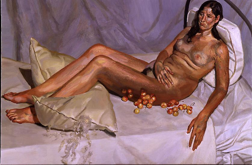 "Lucian Freud, ""Irishwoman on a Bed,"" 2003-4"