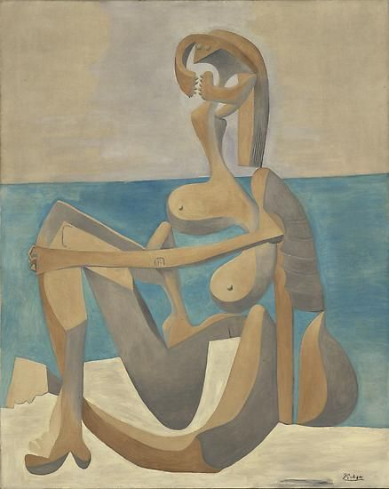 "Pablo Picasso, ""Seated Bather,"" early 1930"