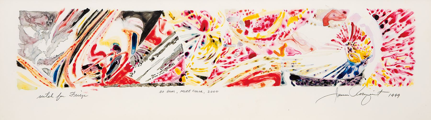 James Rosenquist, No Guns, More Color, 1999