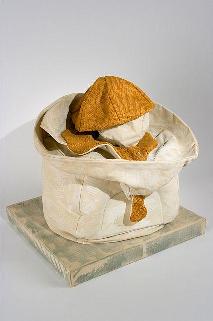 "Claes Oldenburg,Soft Juicit - ""Ghost"" Version,1965, canvas sculpture, 19 x 18 x 16 inches"