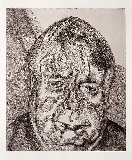 Lucian Freud, Donegal Man, 2007