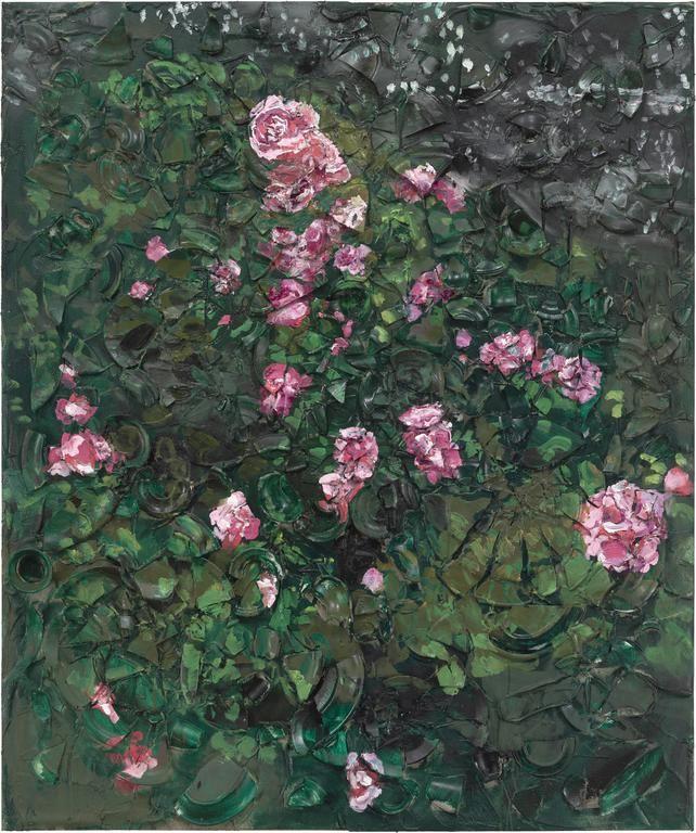 Julian Schnabel, Rose Painting (Near Van Gogh's Grave) I