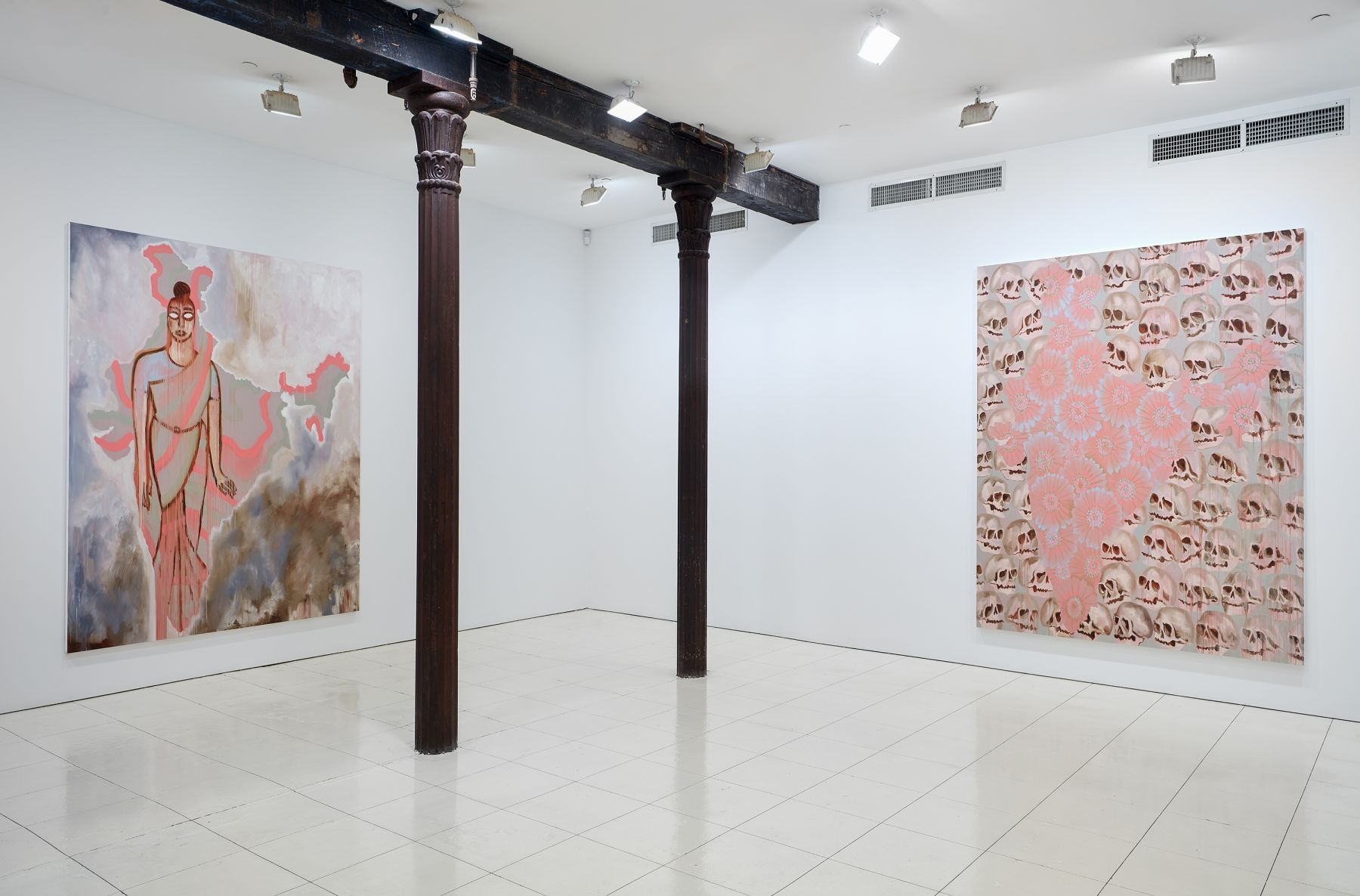 Installation view: Francesco Clemente: India, Vito Schnabel Projects, New York, 2019