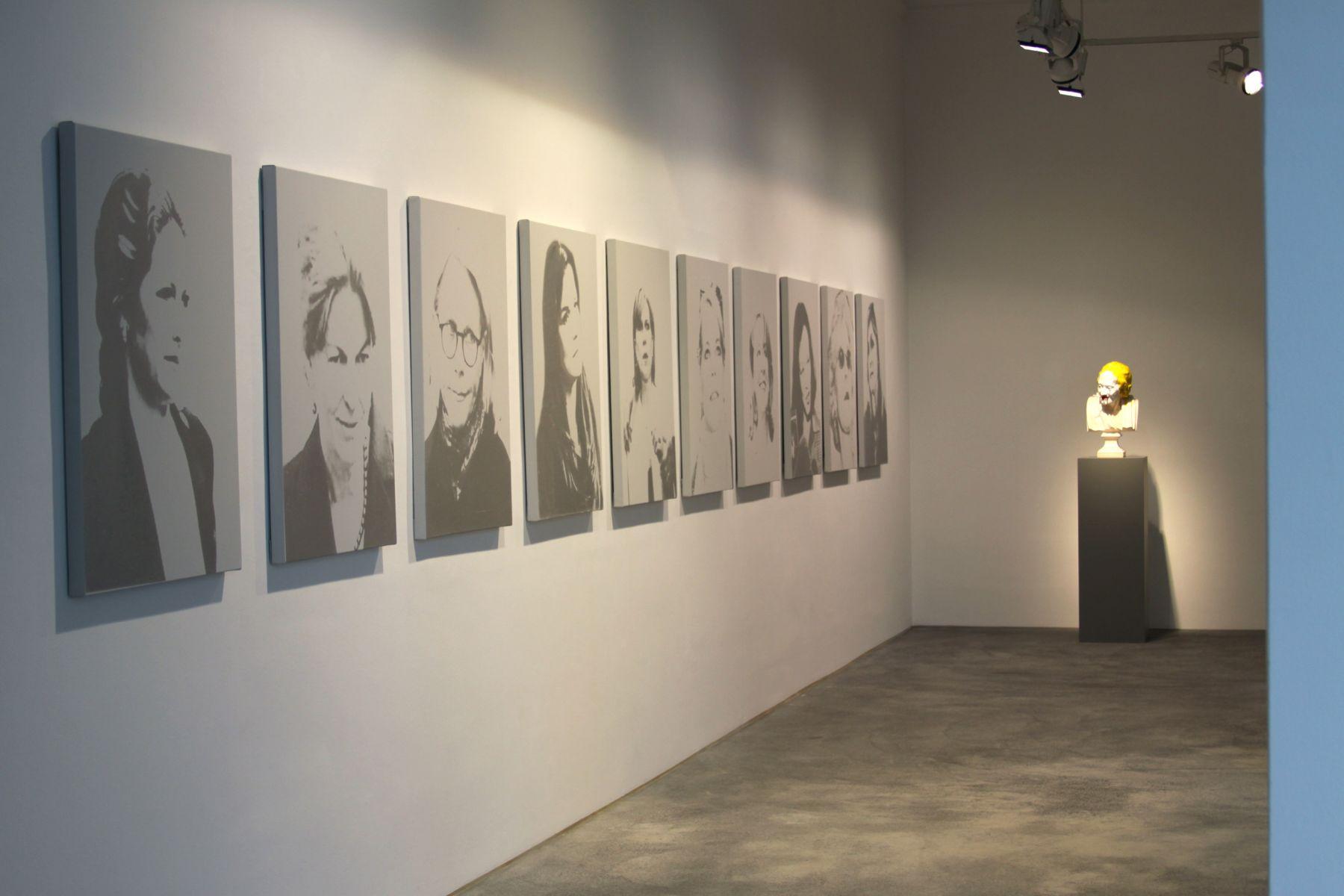 Installation view, The Bruce High Quality Foundation,The Retrospective: 2001-2010,â€‹Galerie Bruno Bischofberger, Zurich, 2010