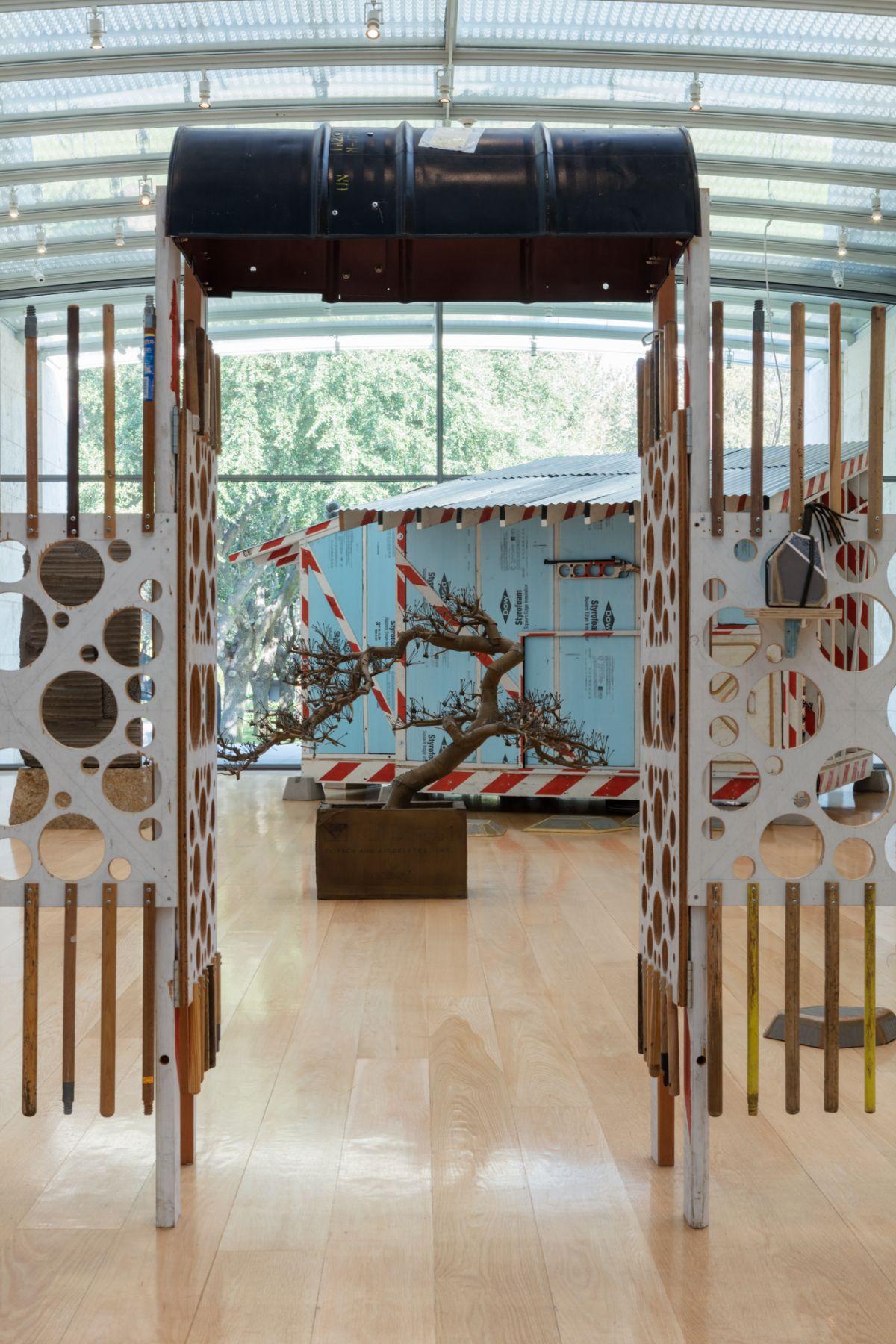 Installation view, Tom Sachs, Tea Ceremony, The Nasher Sculpture Center, Dallas, TX, 2018