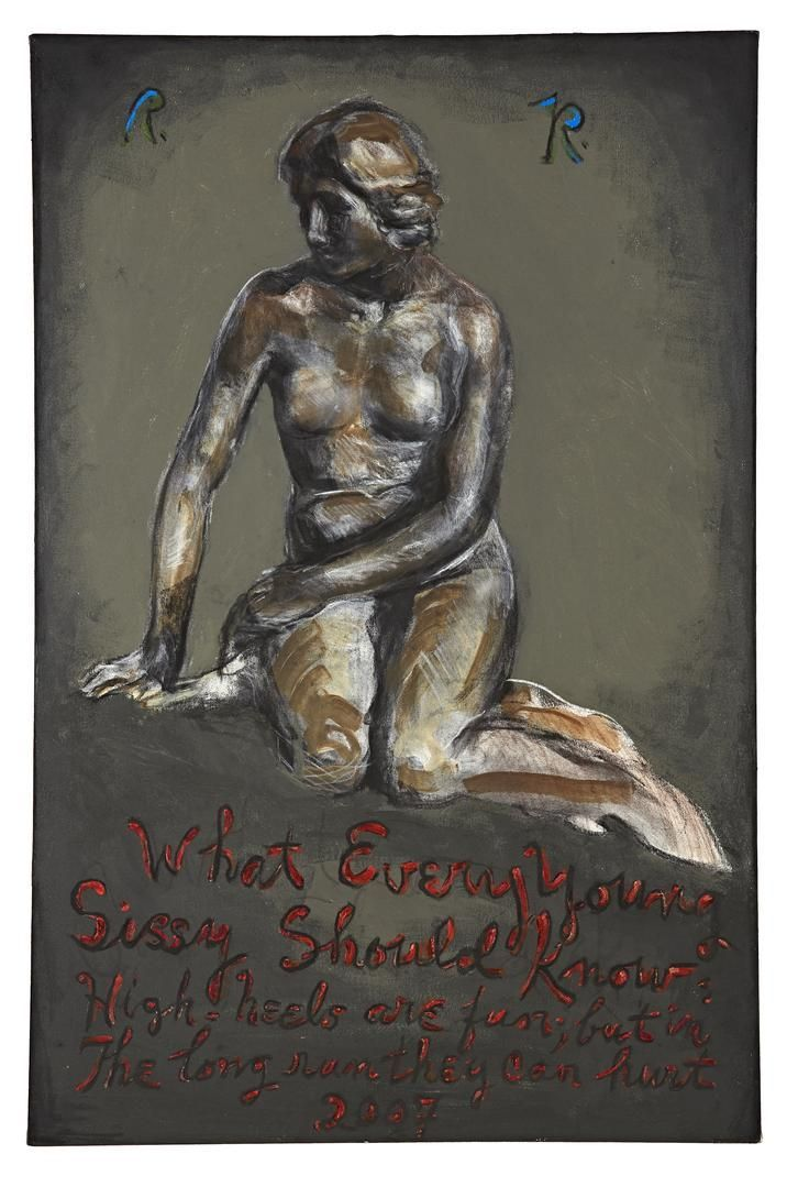 """Rene Ricard, Untitled: """"What Every Young Sissy..."""", 2007"""